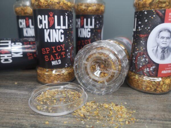 Chilli Salt. Salt Grinder & SHaker